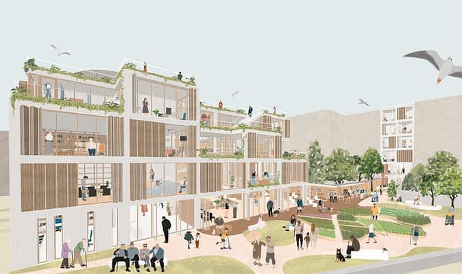 2nd Prize (Kadıkoy, Hasanpasa: Elderly People's Club and Accommodation), Social Architectural Project Competition